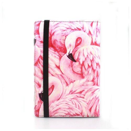 Чехол-обложка MyPads для электронной книги с диагональю 6 дюймов для Pocketbook/ Amazon Kindle/ Kobo/ Onyx/ Digma/ Qumo/ Texet с тематикой Розовый фламинго