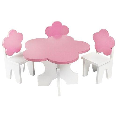 Купить PAREMO Набор мебели для кукол Цветок (PFD120-45/PFD120-46/PFD120-44/PFD120-42/PFD120-43) розовый, Мебель для кукол