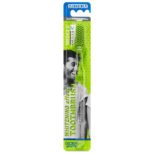 Фото - Зубная щетка Global White Whitening Effect medium, прозрачный зубная паста global white whitening max shine 100g
