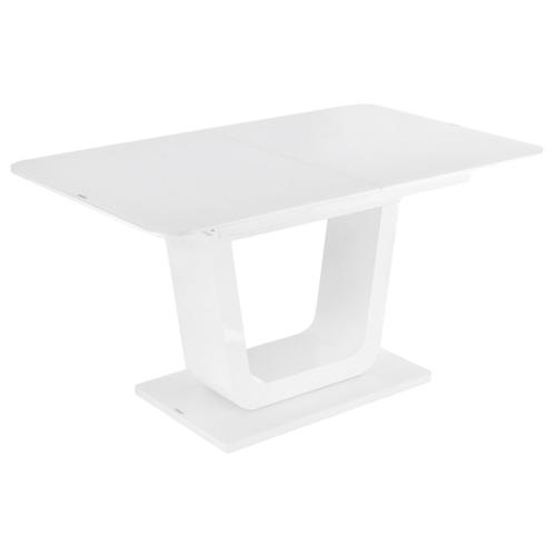 Стол кухонный Woodville Vlinder 140, раскладной, ДхШ: 140 х 85 см, длина в разложенном виде: 180 см, super white стол кухонный signal albert раскладной дхш 100 х 60 см длина в разложенном виде 140 см белый лак