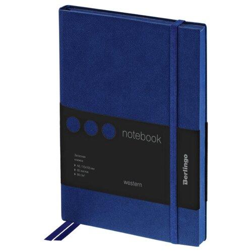 Купить Ежедневник Berlingo Western недатированный, искусственная кожа, А6, 80 листов, синий, Ежедневники, записные книжки