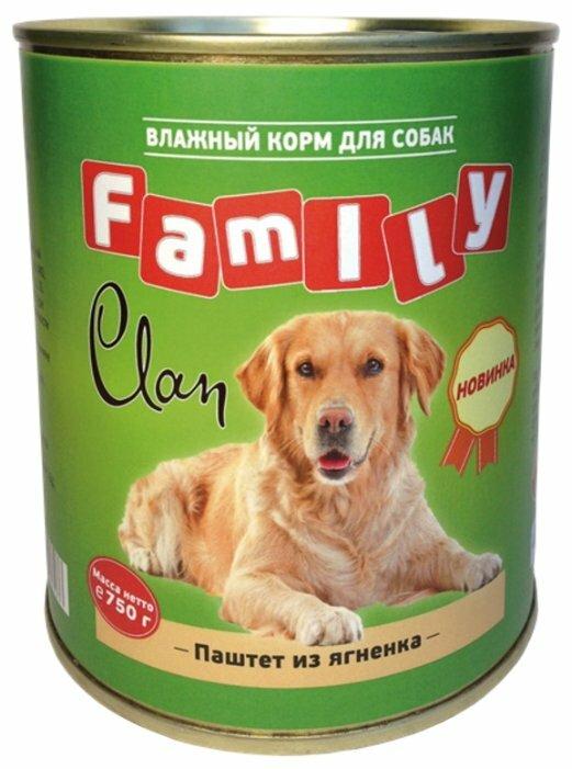 Корм для собак CLAN Family Паштет из ягнёнка для собак (0.750 кг) 1 шт.