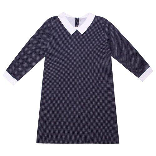 Платье Апрель размер 122-62, темно-синий/белый горох платье апрель размер 122 62 драгоценные камни на черном