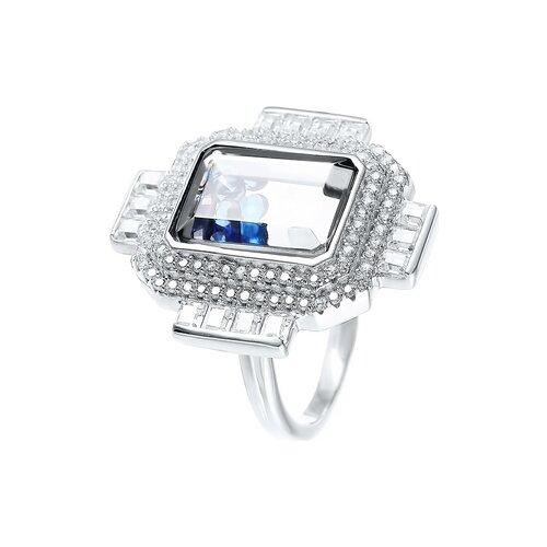 Фото - JV Кольцо с стеклом и фианитами из серебра A112-KO-CRYST-001-WG, размер 16.5 alcaplast a112