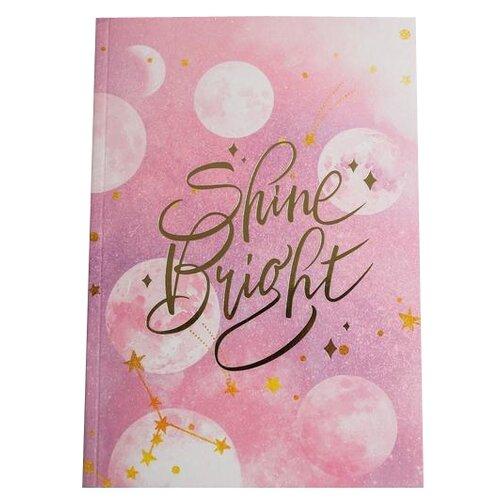 Фото - Ежедневник ArtFox Shine bright 4991926 недатированный, А5, 80 листов, розовый ежедневник artfox настоящий мужик 4719664 недатированный а5 80 листов коричневый