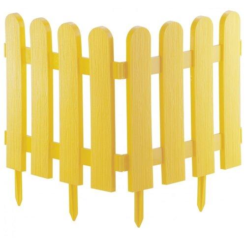 Забор декоративный PALISAD Классика, желтый, 2.24 х 0.29 м