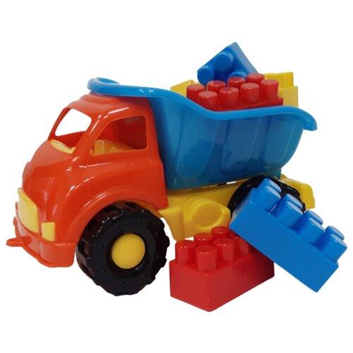 Купить Грузовик Кассон Мини-самосвал + Комби-блок ( 3-336) 19 см, Машинки и техника