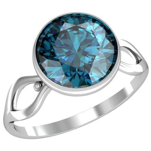 Фото - Приволжский Ювелир Кольцо с 1 алпанитом из серебра 271081-FA77, размер 18.5 приволжский ювелир кольцо с 1 алпанитом из серебра с позолотой 272158 fa77 размер 18