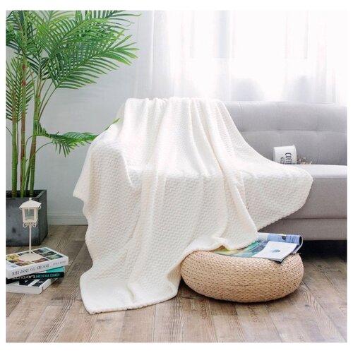 Плед Cleo Royal plush 180х200 см, белый плед cleo бамбук арт 025 pb 180х200 см
