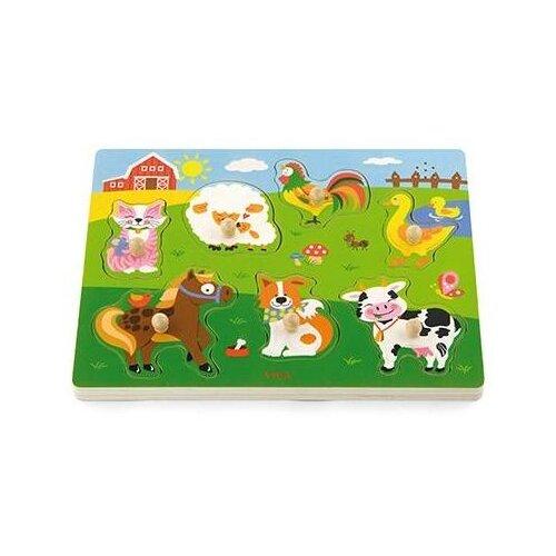 Купить Пазл для малышей Ферма , со звуком, 7 деталей, Viga, Пазлы