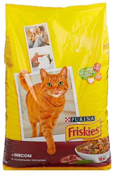 Корм для кошек Friskies с мясом и с овощами 10 кг — купить по выгодной цене на Яндекс.Маркете