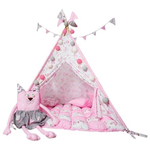 Палатка ВИГВАМиЯ максимальный с бомбоном домик принцессы