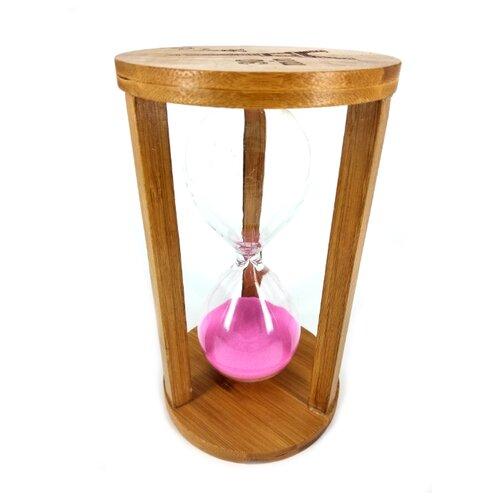 Фото - Песочные часы из дерева 30 минут 11х19 см розовые песочные часы из дерева 60 минут 10х19 см розовые