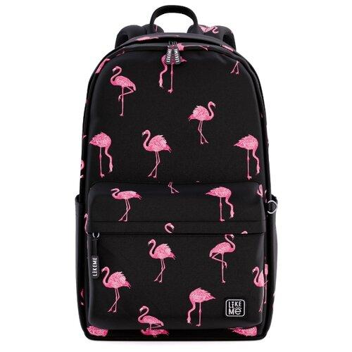 Купить Like Me рюкзак Teens Розовый фламинго, черный, Рюкзаки, ранцы