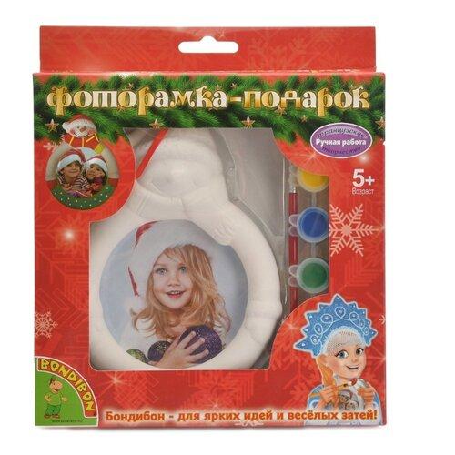 Купить BONDIBON Набор для росписи Фоторамка-подарок Снеговик (ВВ1349), Роспись предметов