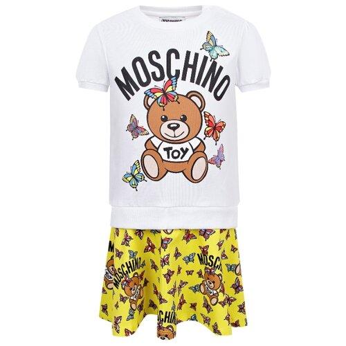 Платье MOSCHINO размер 74-80, белый/желтый