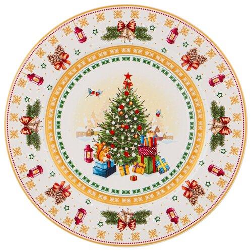 Тарелка обеденная с новым годом! елка 27 см Lefard (85-1606)