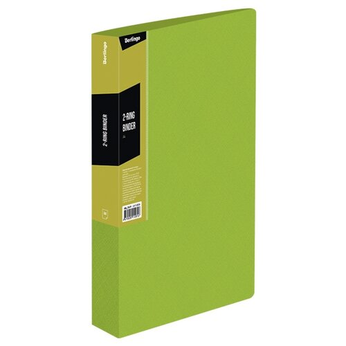 Купить Berlingo Папка на 2-х кольцах Color zone А4, пластик салатовый, Файлы и папки