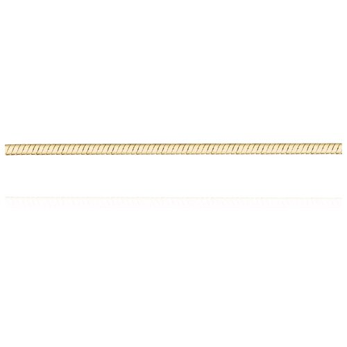 АДАМАС Цепь из желтого золота плетения Панцирь одинарный ЦП125УКА1П-А53, 45 см, 2.27 г