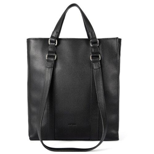 Сумка тоут Afina, натуральная кожа, черный сумка afina сумка