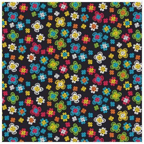 Купить Ткань PePPY 4500/18 для пэчворка фасовка 50 x 55 см 145±5 г/кв.м цветочки 652, Ткани