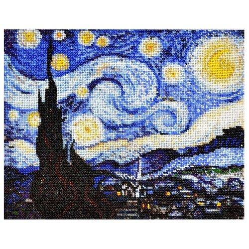 Созвездие Набор для вышивания бисером по мотивам картины Винсента Ван Гога Звездная ночь 30 х 24 см (Р-103) чокши р звездная королева