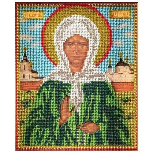 Купить Радуга бисера Набор для вышивания бисером Святая Матрона 12 x 14, 5 см (В-306), Наборы для вышивания