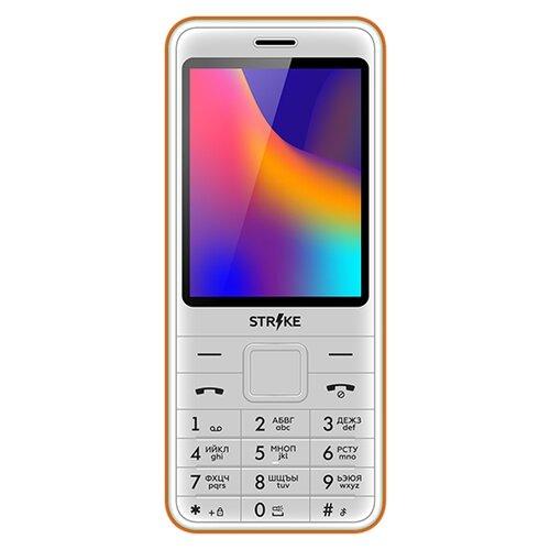 Фото - Телефон Strike A30 бело-оранжевый strike