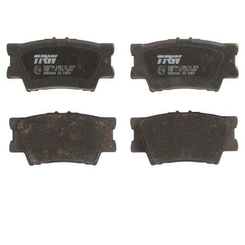 Дисковые тормозные колодки задние TRW GDB3426 для Toyota, Lexus (4 шт.)