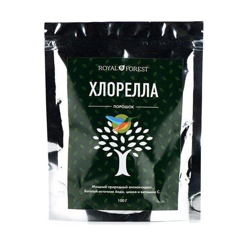 Хлорелла ROYAL FOREST, порошок, пластиковый пакет, 100 г хлорелла порошок из японии act organic 50 г