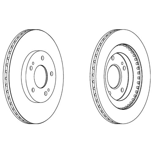 Тормозной диск передний Ferodo DDF1399 286x22 для Mitsubishi Pajero, Mitsubishi Pajero Pinin цена 2017
