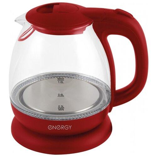 Фото - Чайник Energy E-296, красный чайник energy e 273 серебристый
