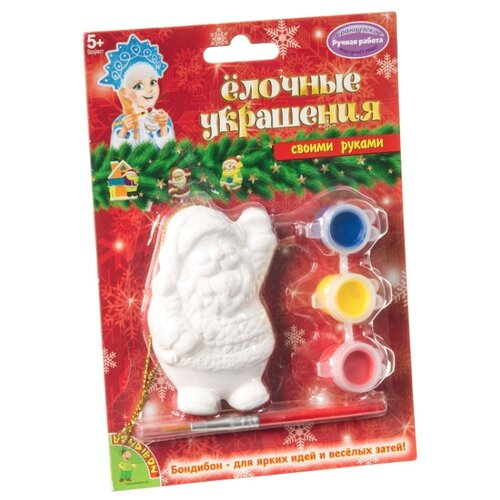 Купить BONDIBON Набор для росписи Елочные украшения Дед мороз (ВВ1663), Роспись предметов