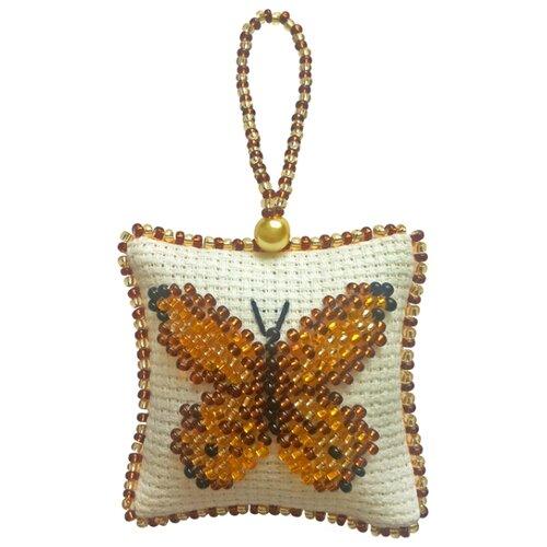 ZENGANA Набор для вышивания бисером и нитками Золотая бабочка 5 х 5 см (М-037)