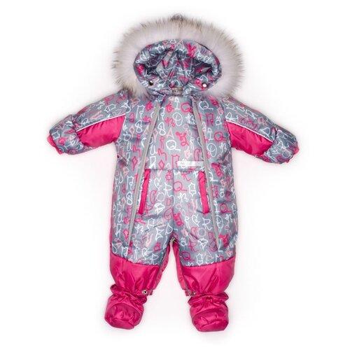 Фото - Комбинезон-трансформер MaLeK BaBy 145шм/2 размер 74, Буквы на сером+малина комбинезон malek baby malek baby