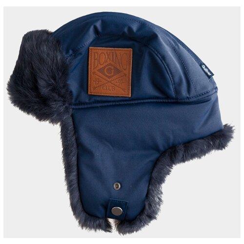 Купить Шапка-ушанка Gulliver размер 58, синий, Головные уборы