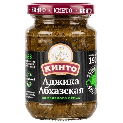 Аджика КИНТО Абхазская из зеленого перца, 190 г