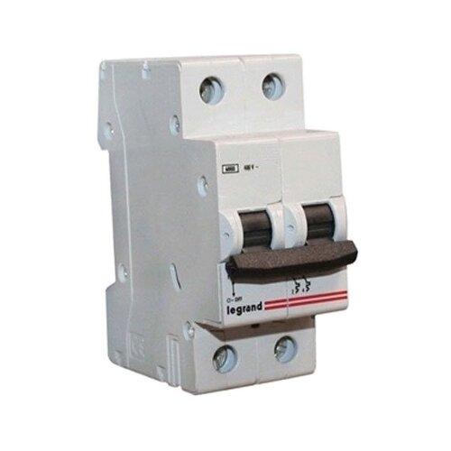 Автоматический выключатель Legrand LR 2P (C) 6kA 10 А автоматический выключатель legrand dx3 e 6000 6ка тип c 3п 25а 407293