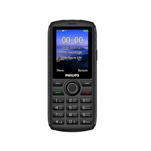 Фото - Телефон Philips Xenium E218, темно-серый сотовый телефон philips e218 xenium dark grey