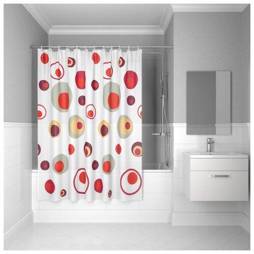 Штора для ванной комнаты, 180*180см, PEVA, P19PV11i11, IDDIS штора для ванной комнаты 180 180см peva p27pv11i11 iddis