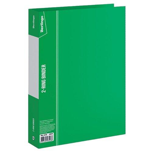 Berlingo Папка на 2-х кольцах Standard A4, пластик, 40 мм зеленый, Файлы и папки  - купить со скидкой