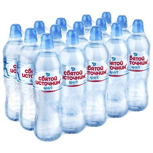 Вода питьевая Святой Источник Спортивная негазированная, ПЭТ, 15 шт. по 0.75 л