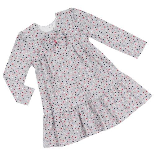 Платье ALENA размер 122-128, серый/красный