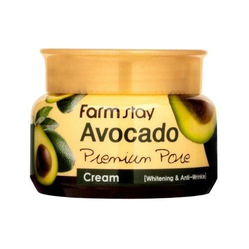 Farmstay Avocado Premium Pore Cream Осветляющий лифтинг-крем для лица с экстрактом авокадо, 100 г