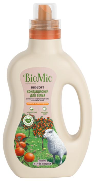Кондиционер для белья BIO-SOFT с эфирным маслом мандарина и экстрактом хлопка BioMio