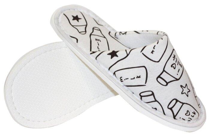 Тапочки ivshoes молочный/черный 36-37