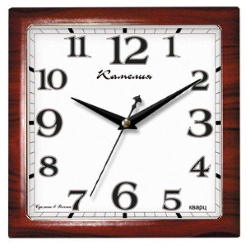 Часы настенные кварцевые Камелия Классика Красное дерево 9918053 красное дерево часы настенные вега классика 28 5 см