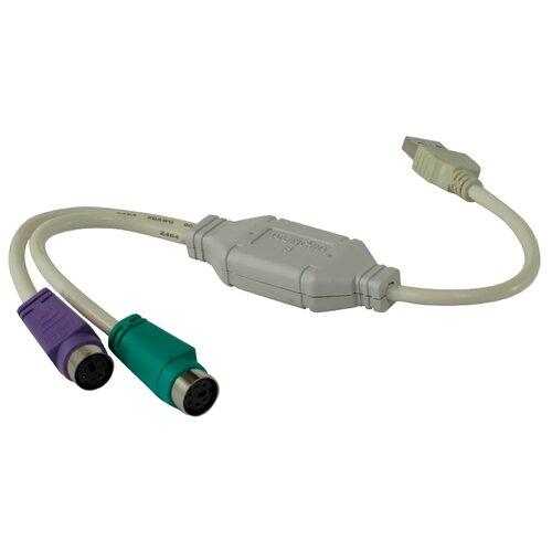 Купить Переходник VCOM USB - 2xPS/2 (VUS7057) 0.1 м белый