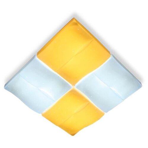 Потолочный светодиодный светильник Ambrella light Orbital Parrus FP2382 WH 128W D500*500 светильник светодиодный ambrella light f130 wh gd 72w d500 orbital led 72 вт