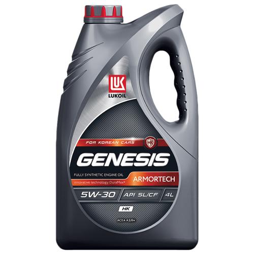 Моторное масло ЛУКОЙЛ Genesis Armortech HK 5W-30 4 л моторное масло лукойл genesis armortech fd 5w 30 4 л